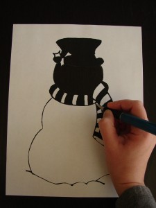 Cut out Magic Snowman