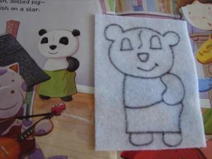 Sketching panda