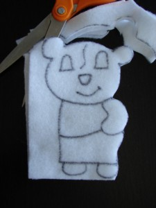 Cutting out panda