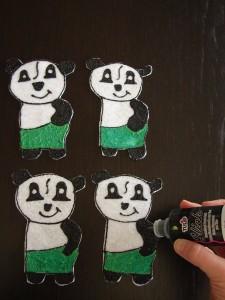 Four pandas
