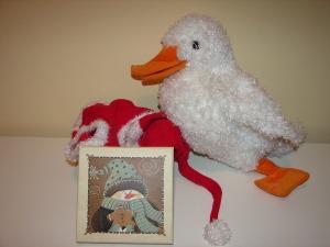 Santa Duck Opening Gift