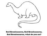 red brontosaurus