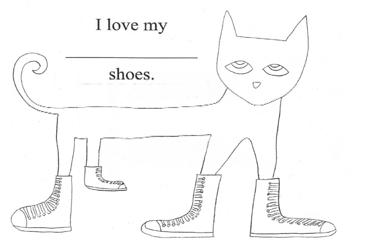 Pete The Cat I Love My White Shoes Coloring Sheet Coloring Pages