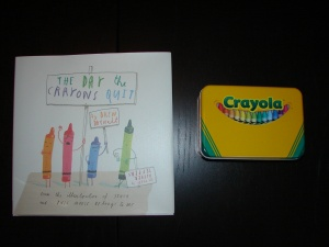 Crayon book and tin