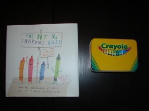 Crayon book and tin