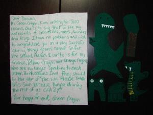 green crayon