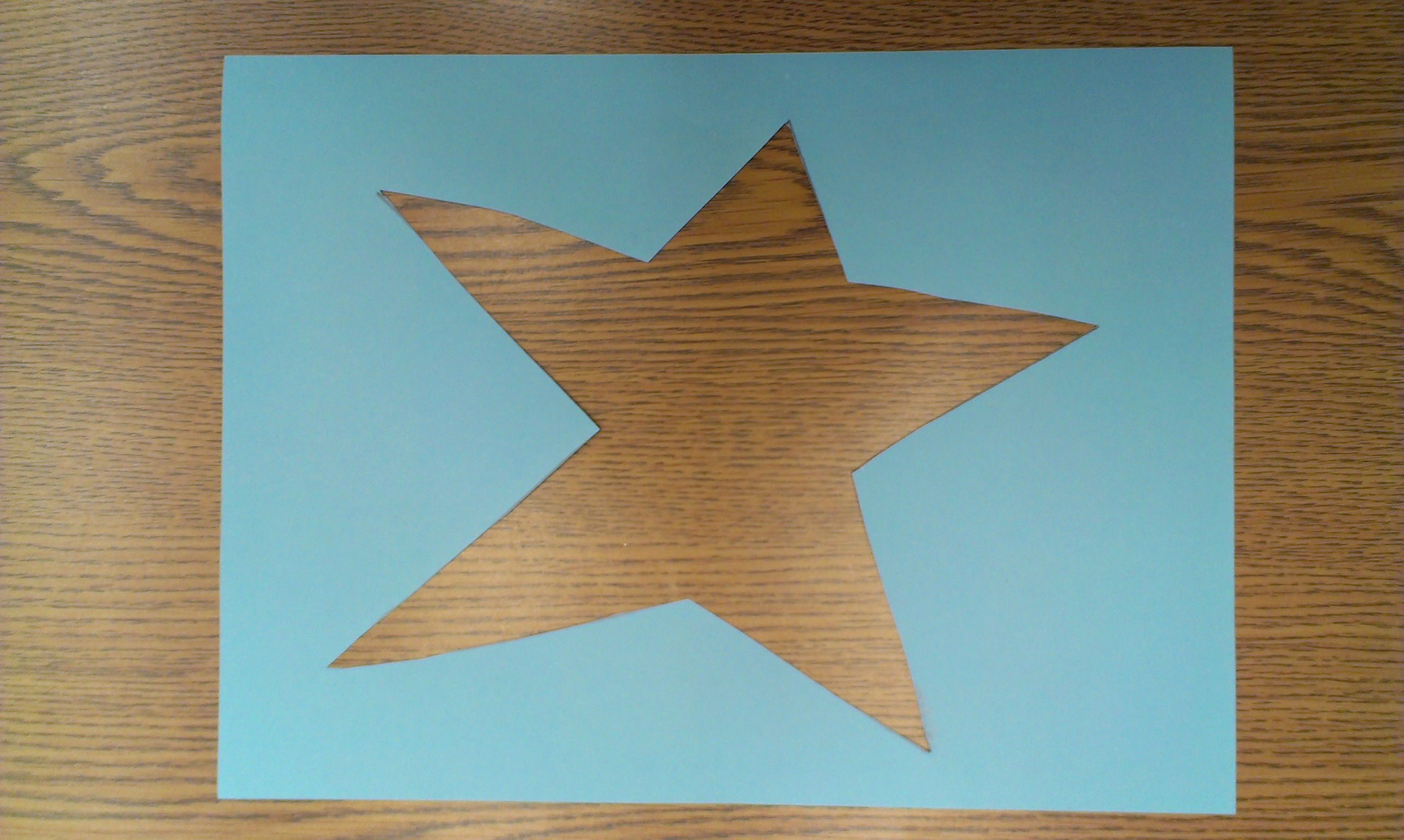 if the children are old enough you can have them cut out the star if