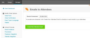 Emails to attendees