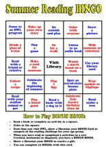 Summer Reading Bingo 1