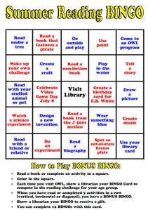 Summer Reading Bingo 3