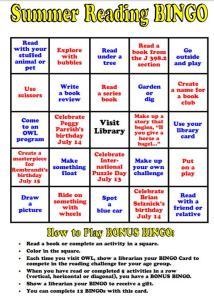 Summer Reading Bingo 4