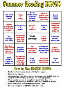 Summer Reading Bingo 5