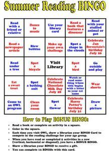 Summer Reading Bingo 6