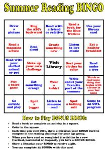 Summer Reading Bingo 7