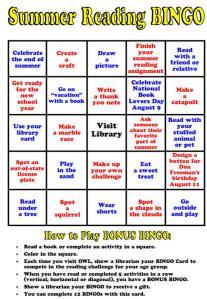 Summer Reading Bingo 8