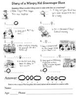 Wimpy Kid Scavenger Hunt