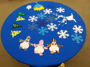 Winter Felt Table
