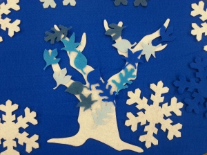 Winter Frozen Tree Felt