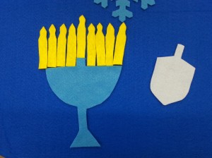 Winter Hanukkah Felt