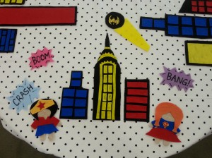 Superhero Felt Table (3)