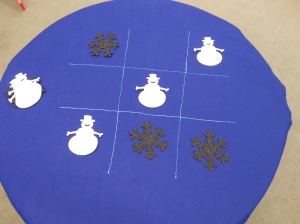 Tic Tac Toe Felt Table